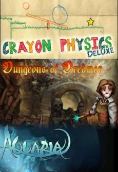 Get Free Crayon Physics Deluxe + Aquaria + Dungeons of Dredmor